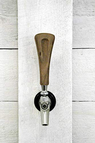 "Tap handle solid Walnut wood beer tap handle 5"" inch. Works on all bar, brewery, home beer taps including kegerator."