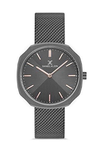 Daniel Klein Reloj de pulsera para mujer Octogon (DK12651) - Correa de malla - Relojes analógicos de moda para mujer - Movimiento de cuarzo japonés - Índices de palo, delgados, muchos colores
