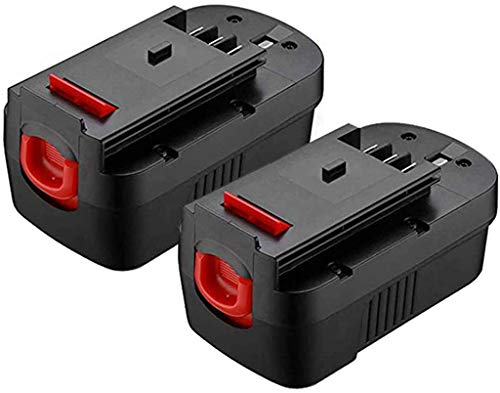 MASIONE 3.6Ah 18 Volt Batteries for Black and Decker 18v Battery Replacement HPB18 244760-00 HPB18-OPE FS18BX FS18FL FSB18 2Pack
