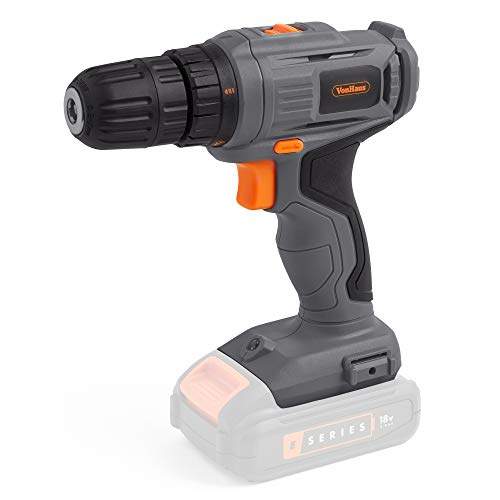 VonHaus E-Series Cordless Drill Driver No Battery or Charger Included – Bare Tool – 18V Electric Drill with Variable Speed Trigger – Handheld DIY Tool for Drilling, Tightening & Loosening