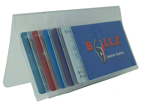 Set of Heavy Duty Vinyl Plastic Secretary Inserts for Long Wallets- 6 Pages (Set of 1)
