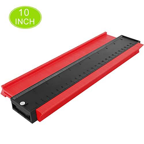 Preisvergleich Produktbild HAUSPROFI Konturenlehre Profillehre 25CM Messwerkzeug Konturmesser Kontur Duplikator Markierwerkzeuge für Unregelmäßiges Profil,  Fliesen,  Laminat und Holz (Rot)(10 Zoll)