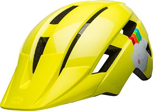 Bell Unisex Jugend Sidetrack II Fahrradhelm Kids, yellow rainbow, Einheitsgröße