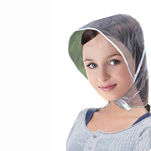 Sunnyflowk Kreative Kunststoff Regen Hut Kappe Mantel Regenmantel Frauen Männer Kinder Geschenke Universelle Verwendung Wandern Angeln Regen Wasserdicht Winddicht Hüte (transparent)