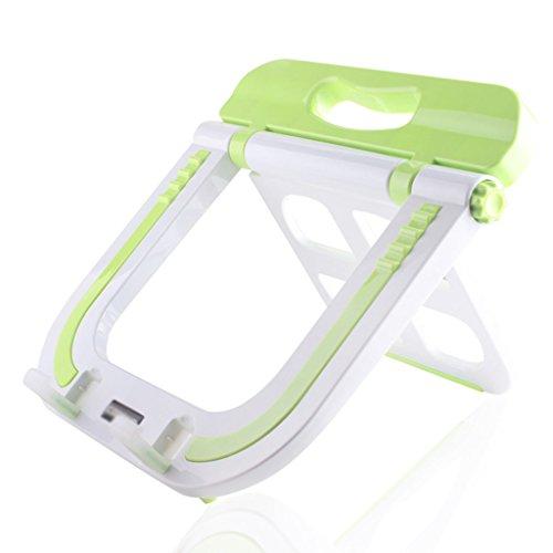 LYM &étagère de Rangement Support pour Ordinateur Portable Pliable réglable, Table de Bureau Noir Support d'écran Portable pour Support Multiple Rack de Finition (Color : Green, Size : 30 * 30 * 3CM)