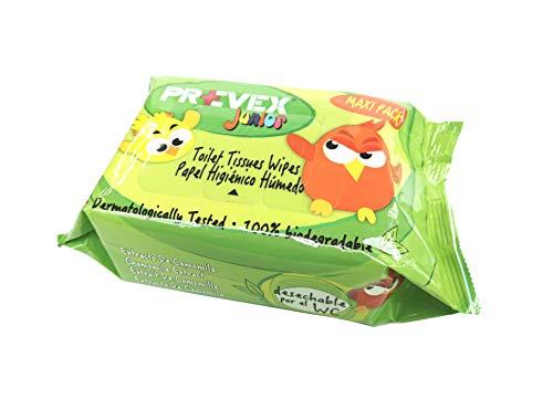 Prevex Toallitas higiénicas biodegradables y desechables con tapa, 100 toallitas, papel higiénico, 210 g