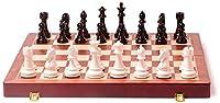 チェスセットゲーム旅行大人の子供用ボードチェスの折りたたみ式木製チェスセットチェスの駒が付いた折りたたみ式ボード収納用インテリアポータブルトラベルボードeセットギフトチェスボードDOC36