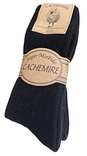 DREAM SOCKS calzini Corti Caldi in Lana Cashmere per Uomo e Donna,calze calzini invernali per Freddo,termiche,morbide,prodotto di alta qualità.(2 or 4 Pack) (2 Paar Set. SCHWARZ, 35-38)