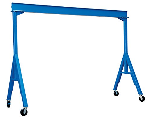 Vestil FHS-4-10 Fixed Height Steel Gantry Crane, 4000 lbs Capacity, 10' Length x 8