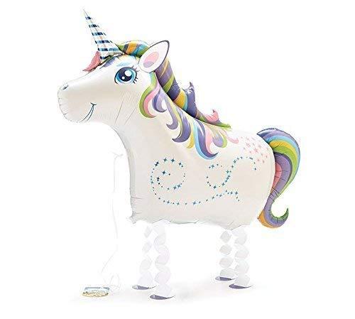 Pet Balloons Globo de papel de aluminio con diseño de unicornio mágico, rosa, morado, azul, verde, amarillo, blanco