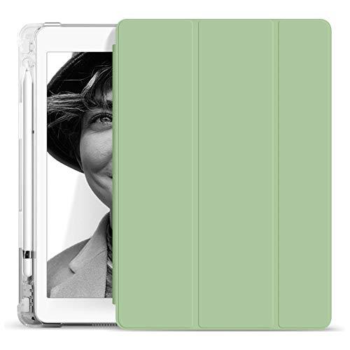 Adecuado para Apple iPad 7 Cubierta protectora IPAD AIR 3 10.2 PULGO Airbag de carcasa iPad Mini 4 5 Tablet Funda 2020 11 pulgadas con soporte de lápiz (Pluma de Witnout)-Verde claro_2018/2017 iPad