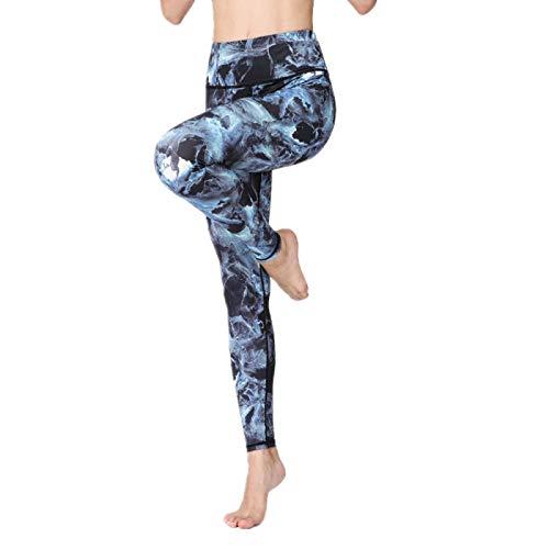 NIGHTMARE Pantalones Cortos Deportivos para Mujer con Control de Abdomen, Pantalones Cortos para Correr de Yoga de Cintura Media,para Control de Abdomen, Pantalones de Yoga para Mujer M