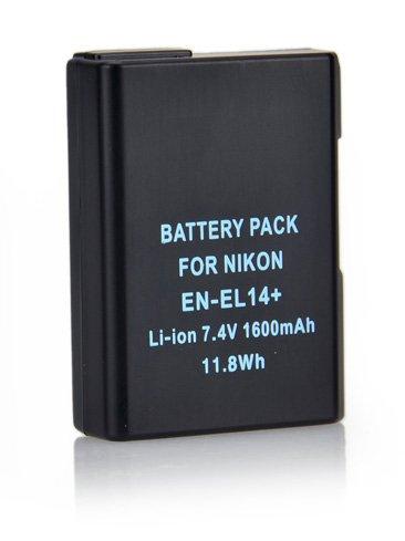 Pixtic-Batería de iones de litio para Nikon EN-EL14 y EN-EL14a para Nikon Coolpix P7000, P7100, P7700 y P7800, P7200, DSLR y D3100, D3200, D5100, D3300, D5200 y Nikon D5300 DF, ión de litio, 7,4 1600mAh/v,]