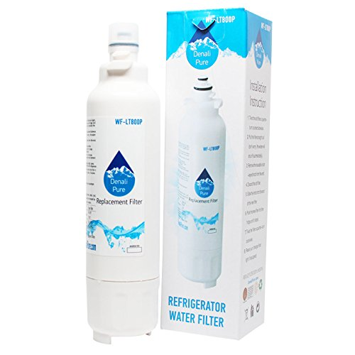 Denali Pure Filtro de agua para frigorífico LG ADQ73613401, 4 unidades, compatible con LG LT800P ADQ73613401