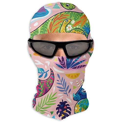 N/A Full Face Masker Bloemen Dinosaurussen Hood Zonnebrandcrème Masker Dubbele Laag Koud Voor Mannen En Vrouwen