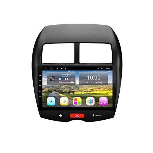 IW.HLMF 10 Pulgadas 4 núcleos Android 8.1 Car Audio DVD Reproductor Multimedia Radio Video Estéreo Navegación GPS Compatible para Mitsubishi ASX 2013-2015 (RAM 2G + ROM 32G)