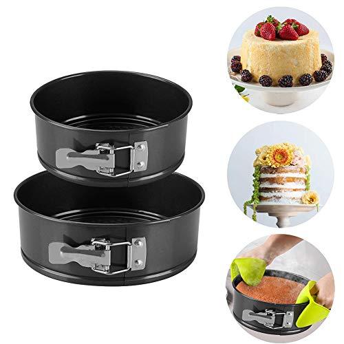 Kuchenform Rund, Springform Cake Pans Set, mit Flachboden Kuchenformen auslaufsicher Runde Backform, Antihaftbeschichtet, 2 Größen Enthält 18cm,20cm