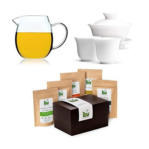 Chinesisches Teeset Gaiwan Mit Geschenkbox - Entdecken Sie Das Tee Geschenkset - Teegeschenk Für Teeliebhaber - Teeliebhaber Geschenke Für Männer Oder Frauen -