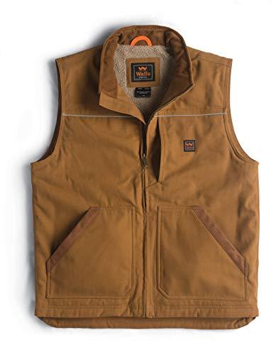 Walls Men's Super Duck Lined Vest, Pecan, XX Large