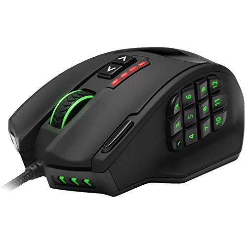 Tuneway USB Wired Gaming RGB Mouse 16400 DPI 19 Buttons Programmable Game Mice with Backlight Ergonomic for Laptop Pc Computer
