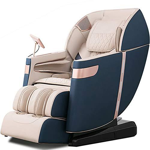 Professionelle Relax Shiatsu Sessel, Schwerelosigkeit, Magnetisch, Heat System, Teig kneten Massage-Sofa-Stuhl für Ältere Office Home,Blau