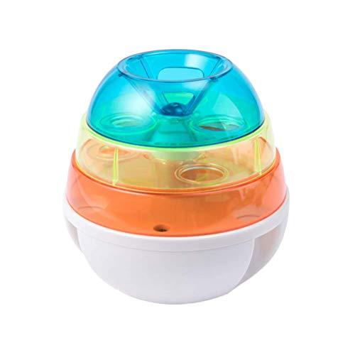 Qazxsw Dog Tumbler Interactive Bowl Automatischer Slow Feeder Dreischichtiges Leckagefutterballspielzeug für Welpenkätzchen