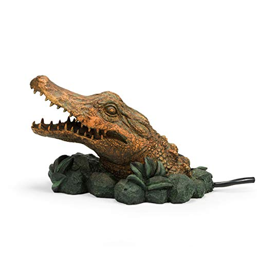Aquascape 78302 Alligator Spitter Water Fountain, Green