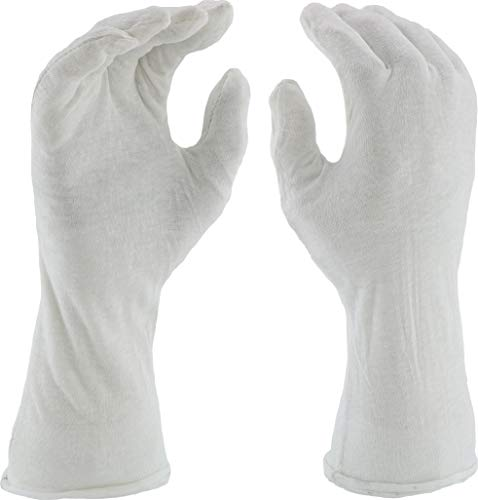 West Chester 704-14 100% Cotton Lisle Gloves, Extended 14