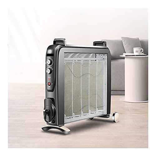 Dongxiao Calefactores Calentador de convector con termostato 4 ajustes de Calor Mica Thermic Panel Calentador Humidificador Aceite Libre Calentador Eficiente Calefacción