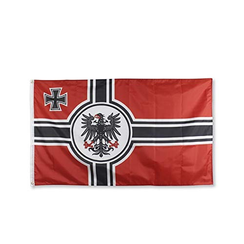 XiaoOu Bandera Nacional 90x150cm Imperio alemán DK Reich De 1903 a 1918 Cruz de Hierro Primera Guerra Mundial Bandera del ejército de Alemania, C, 90 x 150cm