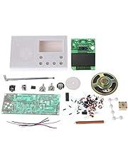 FATTERYU DIY LCD FM Radio Kit Electronic Educational Learning Suite Rango de Frecuencia 72-108.6 MHz