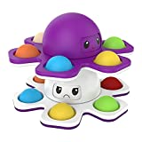 Bseka Pop Fidget Spinner Toys, Face-Changing Toy Relief Anti-Anxiety Keyboard Stress Relief Sensory Toy for Kids Adults (White or Purple)
