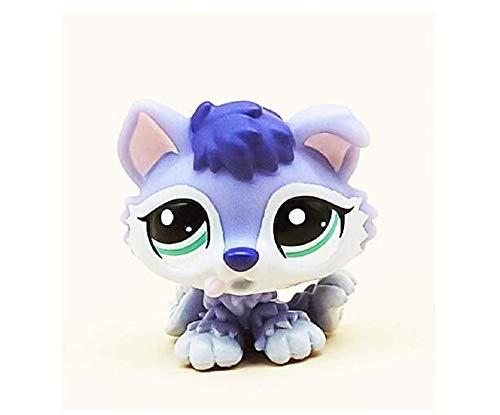 WooMax Littlest Pet Shop Juguete LPS Husky siberiano 1018 (ojos morados, verdes) Colección LPS Figura para niños y niñas regalo