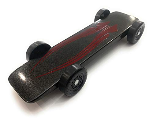 Maximum Velocity Pinewood Car Kit | Includes BSA Speed Wheels, Speed Axles, Graphite & Steel Weight | Wing Car Derby Car Kit