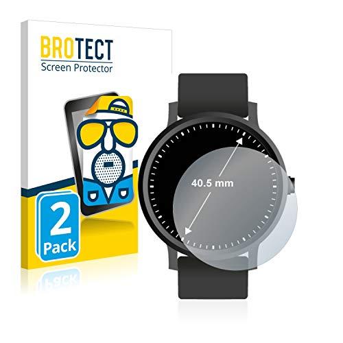 BROTECT 2X Entspiegelungs-Schutzfolie kompatibel mit Armbanduhren (Kreisrund, Durchmesser: 40.5 mm) Matt, Anti-Reflex, Anti-Fingerprint