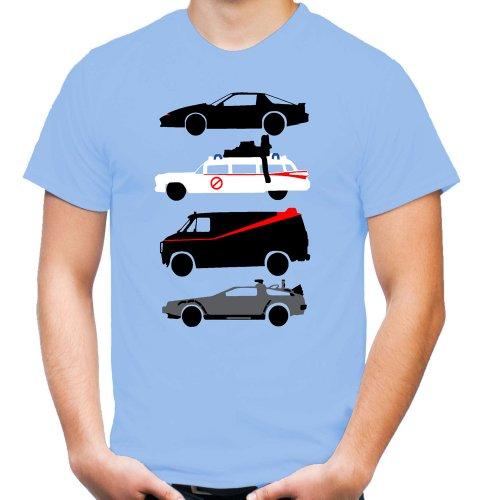 Kult Cars T-Shirt | A-Team | Ghostbusters | Knight Rider | Back to Future | Fun (XL)