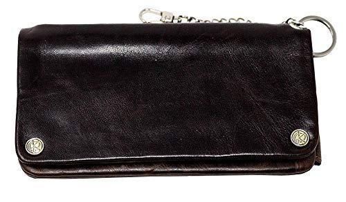 Original Kavatza Tabak-Portemonnaie klein: Geld-Börse und zugleich Tabak-Tasche, Feinschnitt-Beutel, Dreher-Tasche | 170 x 100 x 30 mm | RINDS-LEDER | Havana Classic