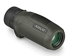 10x magnification and 25mm objectives lens, the Solo Monocular is a small, lightweight optic with fully multi-coated lenses, increasing the light transmission and resolution giving you the clear, crisp images you want. The monocular is fully rubber a...