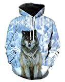 Your Love Wolf Style Snow Watchman Leisure Hoodies Athletic Streetwear Pullover