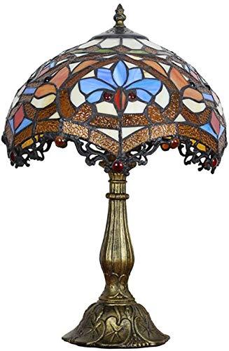 Lámpara De Mesa De Estilo Tiffany Lámpara De Estudio De Sala De Estar De Dormitorio De Estilo Europeo Mesita De Noche De Dormitorio De Estilo Americano Lámparas De Mesa-a