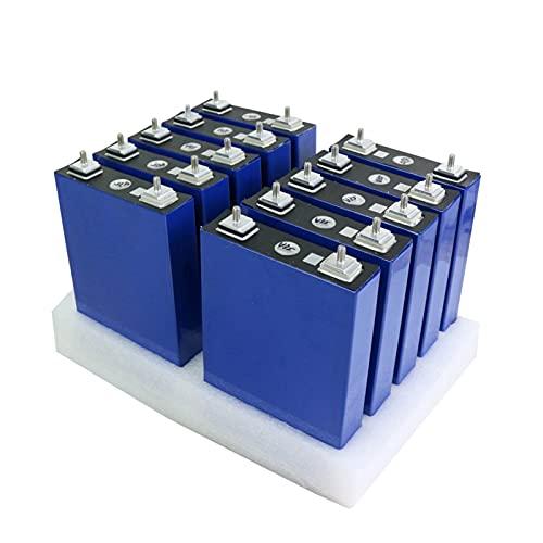 OANCO Batería LiFePO4 De 3,2V 100Ah,Celdas De Fosfato De Hierro Y Litio,Baterías De 24V 48V 100Ah para Paquete Solar EV RV,UE,Libre De Impuestos (Color : 16PCS 48V 100AH)