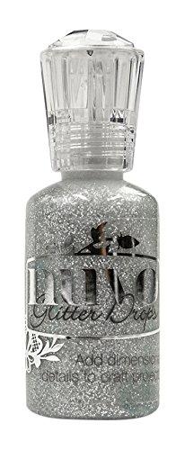 Nuvo by Tonic Studios Nuvo Glitzertropfen – Silver Moondust, 3D Glue, 8x3x3 cm