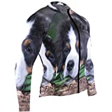 SLHFPX Bernese Mountain Dog Mens Cycling Jersey Jacket Full Sleeve Mountain Biking Clothes Outfit