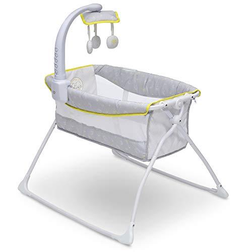 Delta Children Deluxe Activity Sleeper Bedside Bassinet - Folding Portable Crib for Newborns, Disney Winnie The Pooh