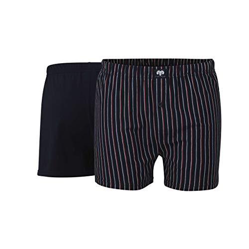 Ceceba Herren Boxershorts Shorts, 2er Pack, Blau (navy-red 2550), X-Large (Herstellergröße: 7)