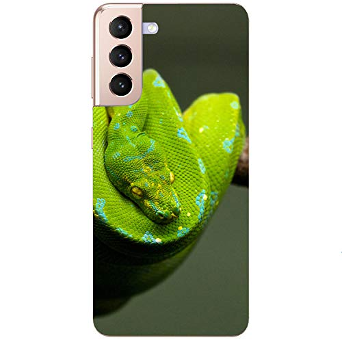 Funda blanda para teléfono móvil, diseño de serpiente, color verde, Samsung Apple, Huawei Honor Nokia One Plus, Oppo ZTE Xiaomi Google, tamaño: Xiaomi Redmi Note 8 Pro