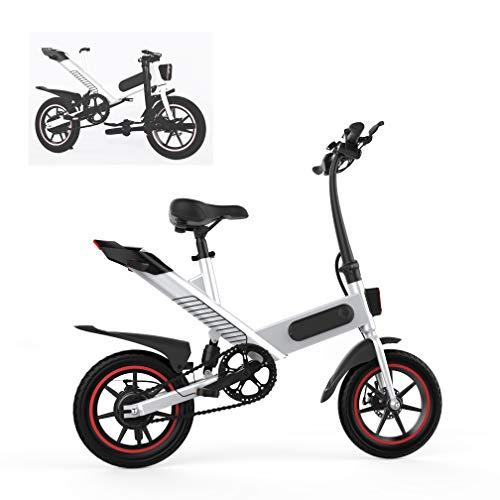 Fafrees Bicicleta Eléctrica Plegable con Pedales, Bicicletas Eléctricas para Adultos de 14 Pulgadas Motor sin Escobillas 350W, 36v/10AH/25km, IP54, (Entrega rápida en 3-7 días laborales) [EU Stock]