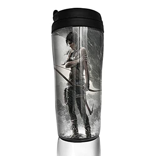 Game Tomb Raider Taza de café hombres mujeres aislamiento taza agua viaje oficina trabajo al aire libre novedad regalo cumpleaños 12 oz capacidad