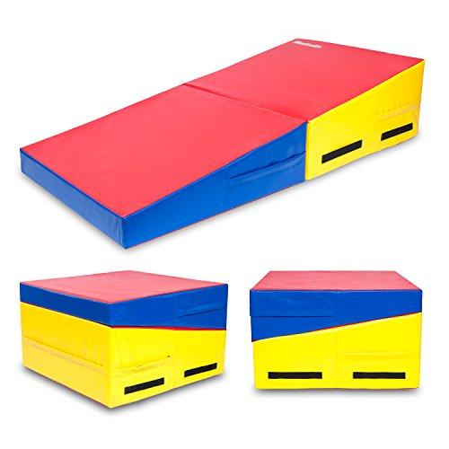 "Matladin 58""x29""x14"" Folding Gymnastics Cheese Wedge Incline Mat"