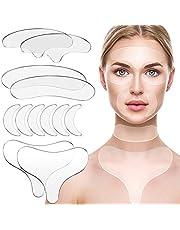 12 Piezas de Almohadillas de Silicona Reutilizables Parche de Silicona de Cuello Conjunto de Almohadillas de Frente Almohadilla de Escote Almohadilla de Ojos para Mujeres Niñas